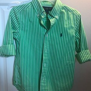 Ralph Lauren boys polo dress shirt size 6